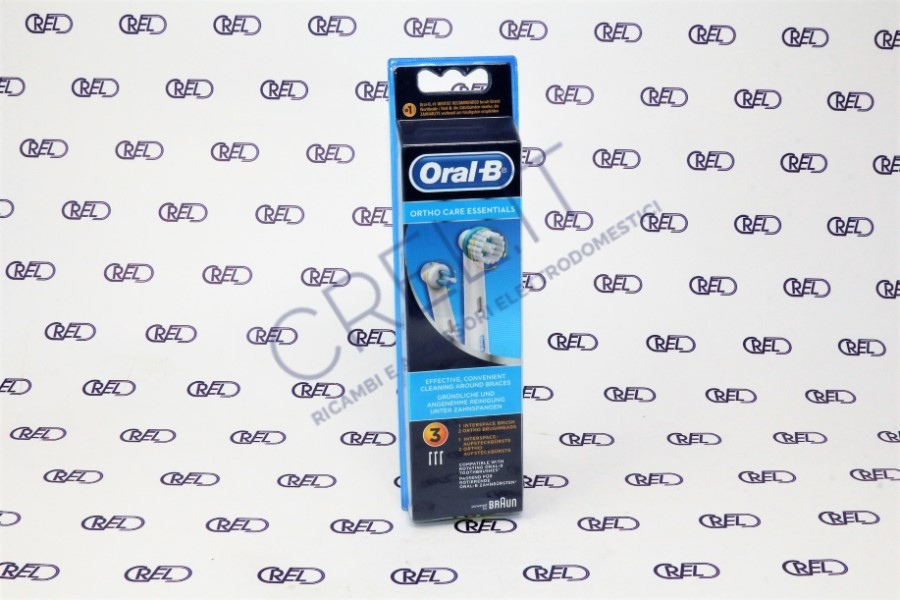 64711704 set 3 spazzolini di ricambio Braun Oral B Ortho Care Essentials